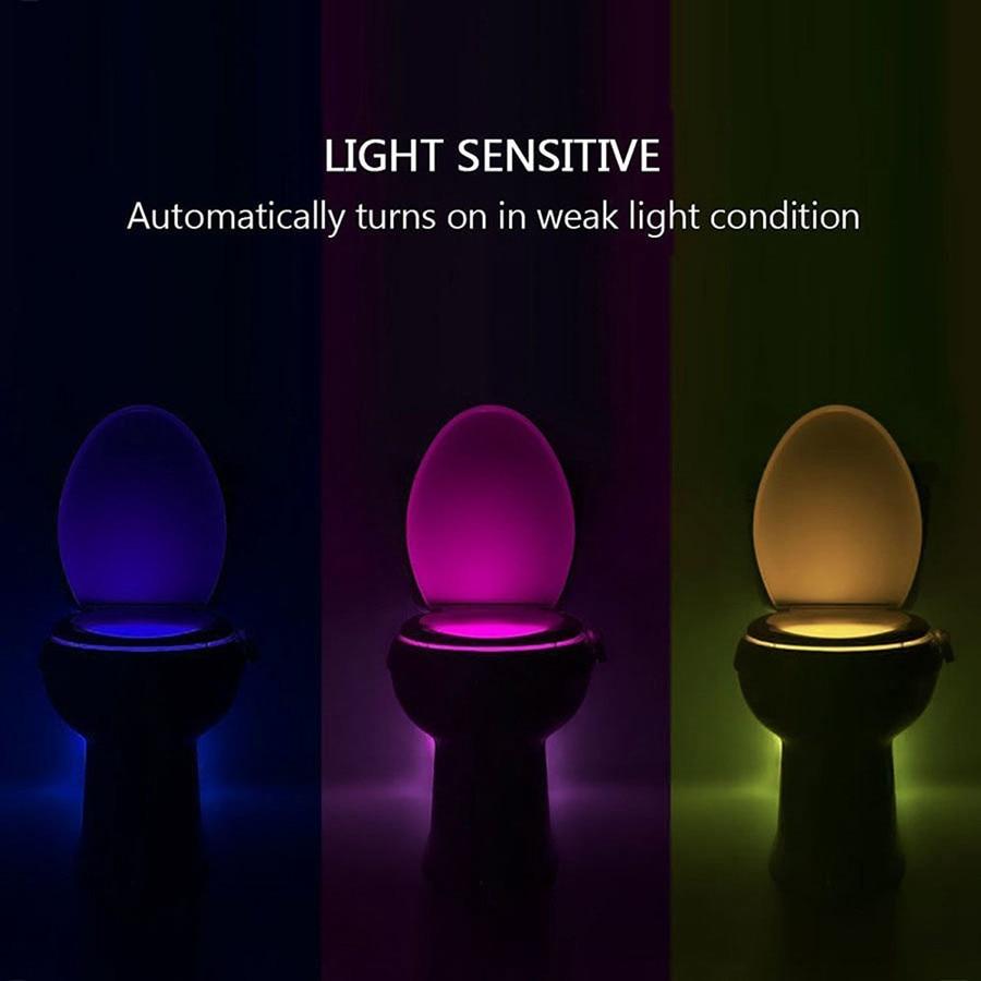 8 colors led toilet night light