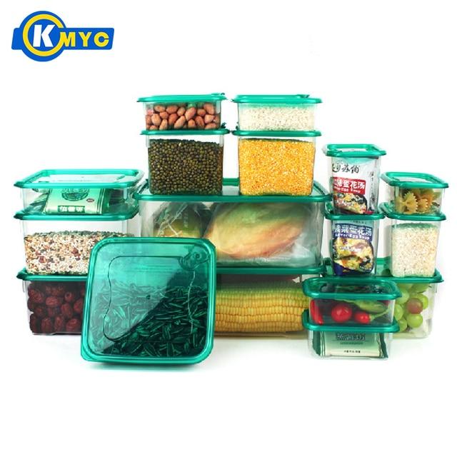 photos officielles cfe75 e095b € 51.91  KMYC 17 pcs Multi But De Cuisine En Plastique De Stockage  Organisateur Boîte De Rangement Pour Réfrigérateur Bac À Légumes Aliments  ...