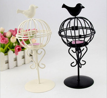 Iron Ball Birds Candle stick Candleholder TeaLight Holder Wedding Home Decoration Design-8181