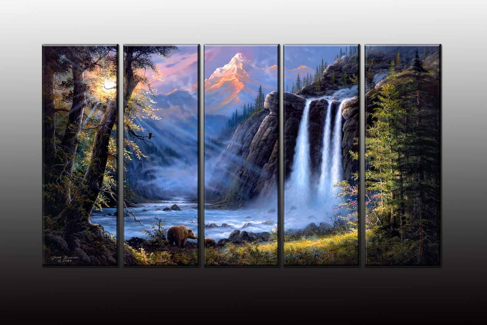 Waterfall Wall Art popular animated waterfalls wall art-buy cheap animated waterfalls