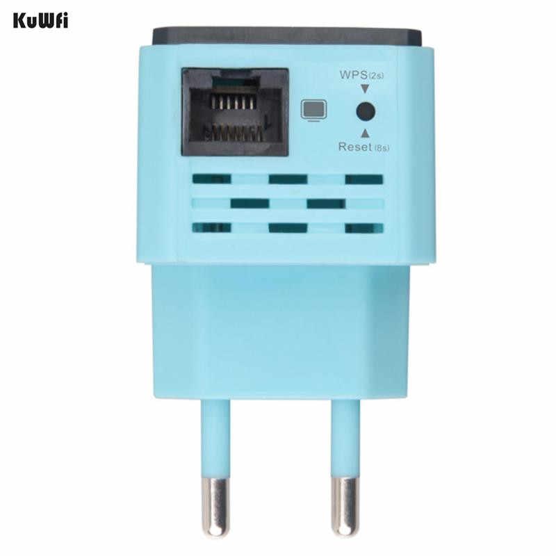 KuWFi 300Mbps repetidor WiFi inalámbrico 2,4 Ghz AP Router 802.11N Wi-fi amplificador de señal extensor de rango con enchufe de EE. UU. EU