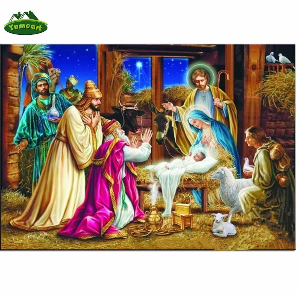 Diy Diamant Gemälde Jesus Christus Geburt Weihnachts Diamant Muster ...