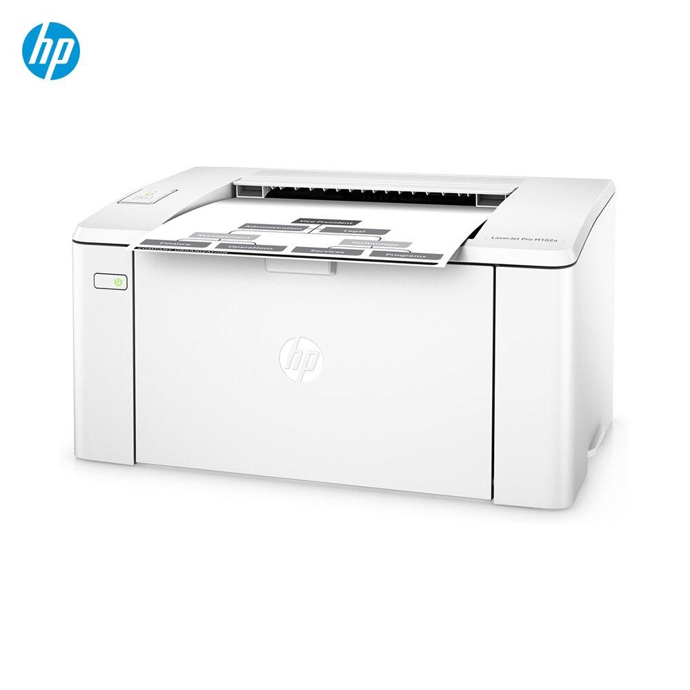 Impresora hp LaserJet Pro M102a (лазерная, 1200x1200 Точек на дюйм, A4, 150 hojas, 23 стр./мин) Цвет blanco принтера