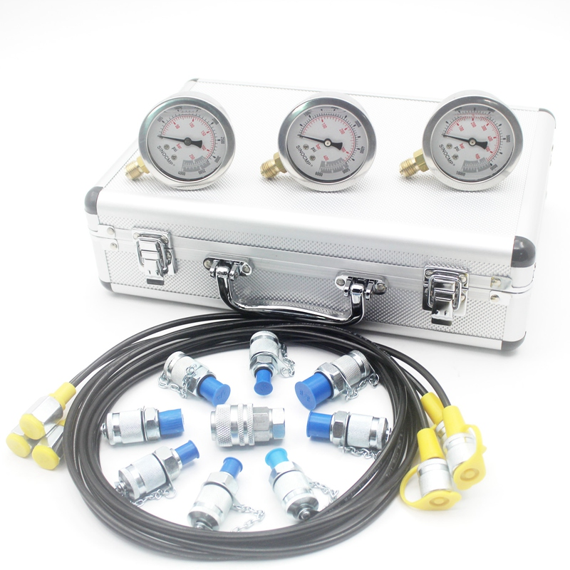 Excavator Hydraulic Pressure Gauge Test Kit, Diagnostic Tool, Hydraulic Point Tester Coupling, 2 year warranty
