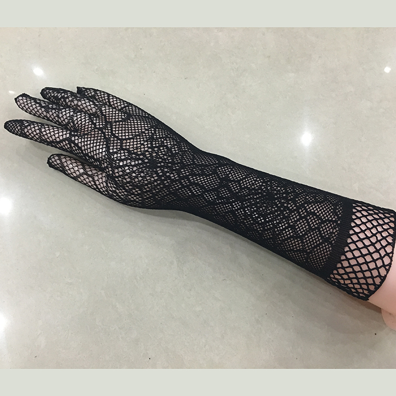 Sexy Transparent Lace Elastic Gloves Bride Long-sleeve Gloves Mesh Liturgy Gloves Sexy Gloves Lace 613