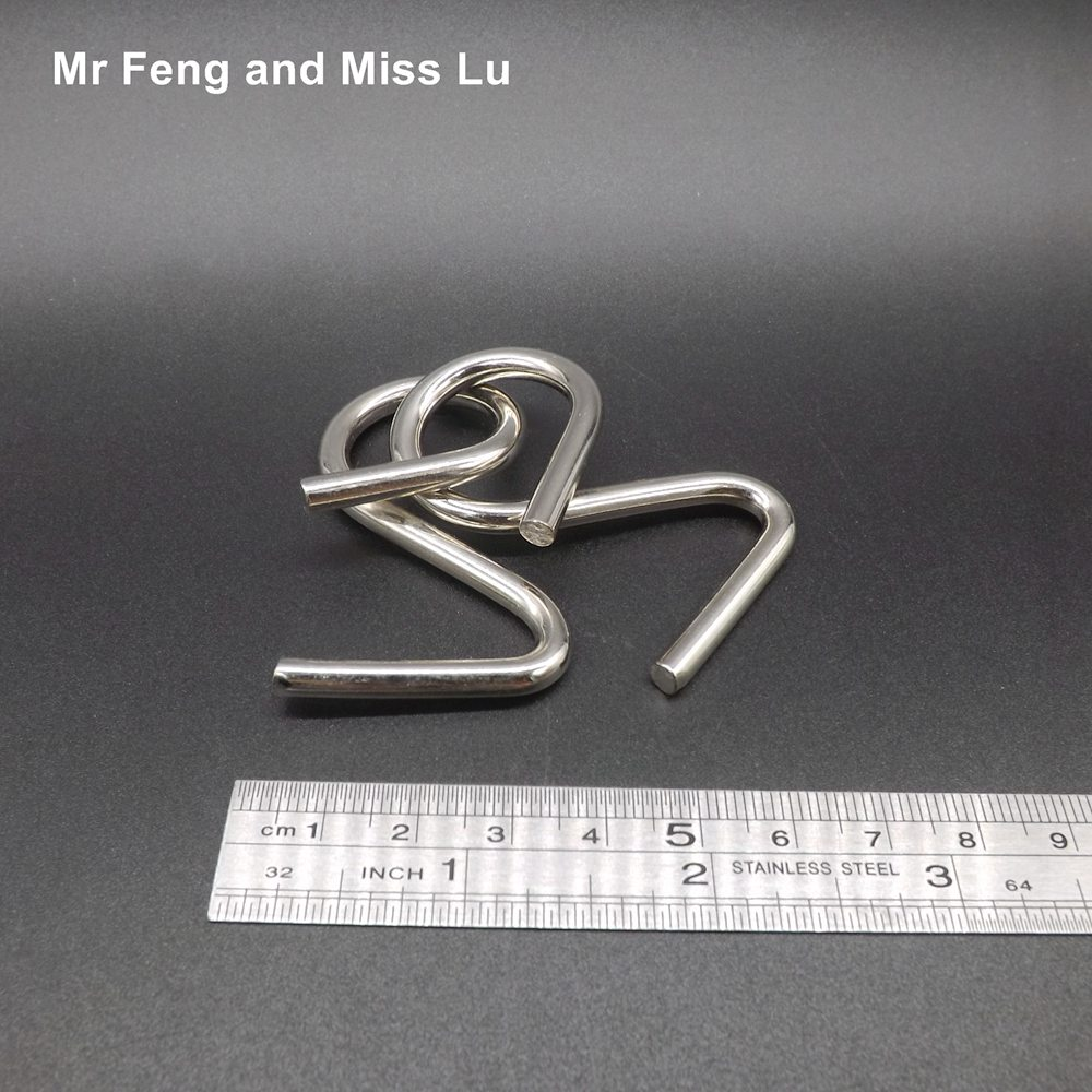 Funny Snake Buckle Ring Puzzle Solution Mind Games Interactive Metal ...