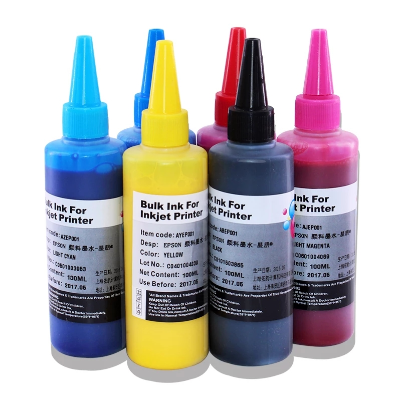 Computer & Office 1000ml 6colors Dye Subliantion Heat Transfer Ink For Epson R1390 1390 1400 1410 1430 R230 R330 R270 R290 T50 P50 T60 Printers
