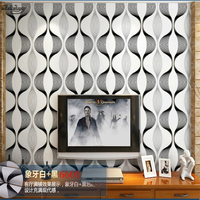 beibehang TV background 3D abstract geometry striped wallpaper Colorful KTV bar dance hall sound insulation film wallpaper
