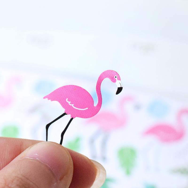 Hot flamingo sticker diy album mobile stickers srapbooking kawaii sticker in stationery sticker from office school supplies on aliexpress com alibaba