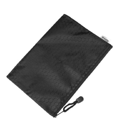 Hot Sale 10pcs Black Nylon Sexangle Printed A5 Paper Document Files Organizer Bag