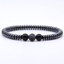 Fashion Hematite Round tablets yoga Bracelet Noble Elegant Chain Bracelets Jewelry For Women Men Jewelry pulsera DropShipping(China)