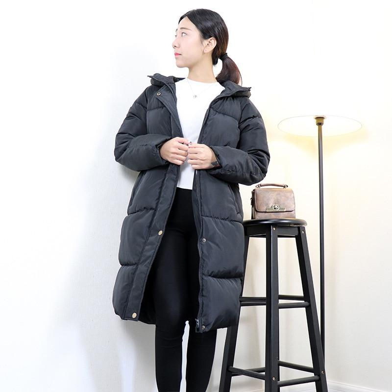 Chaude À 2018 Grande Femmes Taille Vente Noir Veste Capuche D'hiver Épaissir qSBAx