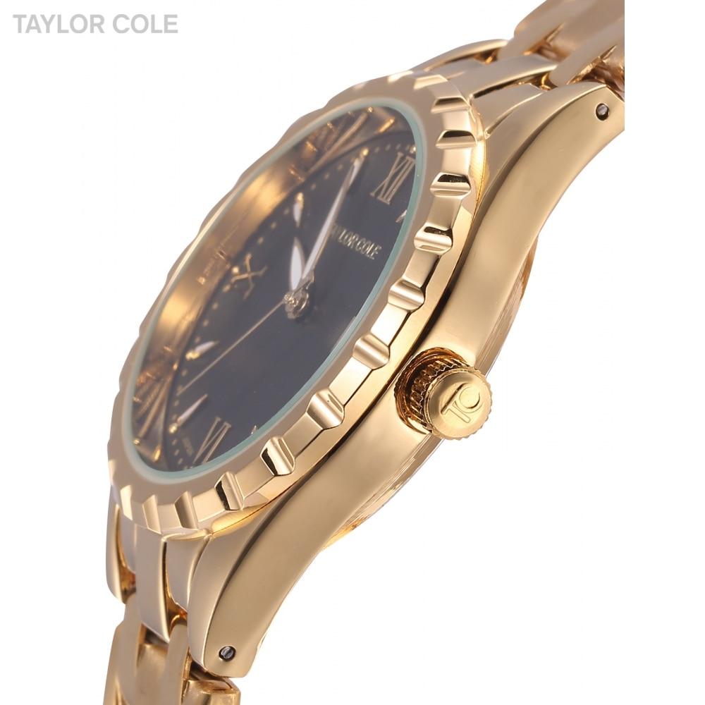 71ab6039341 Taylor cole mulheres de luxo da marca aglaia assista auto data relógio de ouro  relogio feminino relógios de senhora da moda cinta de aço inoxidável tc023  em ...
