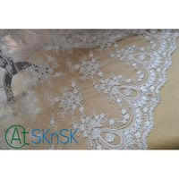 Lace 2016 New 135cm Width ivory Vintage Embroidered Lace Fabric with floral.3D High end luxury Wedding Gown Lace Fabric SK40949