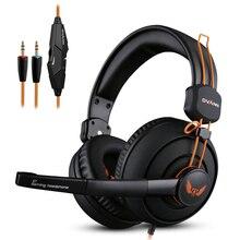 Ovann X7 Gaming Headset Earphones & Headphones With Microphone Big Earmuffs Gamer Studio Bass Noise Isolating 3.5mm