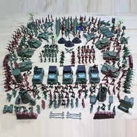 240 PCS Soldiers and Lot WWII Toy Soldier Military Man Plastic Military Suit of Model Aircraft and Tanks Scene Gift Bag for Kid