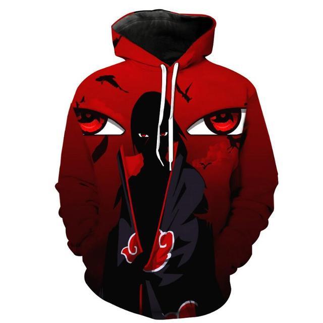Naruto Hoodies Men 3D Printed Pullovers Sportswear Sweatshirts 2018 Spring male Hoodie Naruto cosplay Long sleeve clothing   3