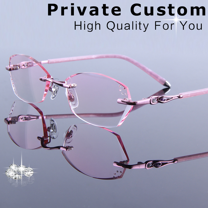 DUBERY Women's Prescription Reading Glasses Elegant Myopia Single Focus Eyeglasses