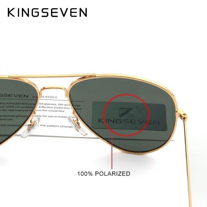 58mm retro klassische sonnenbrille polarisierte frauen kingseven - Bekleidungszubehör - Foto 3