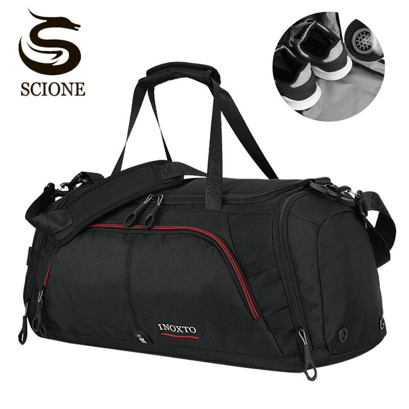 Top hommes voyage sac à main grande capacité femmes bagages voyage Duffle sacs mâle voyage épaule voyage sac organisateur avec chaussures poche