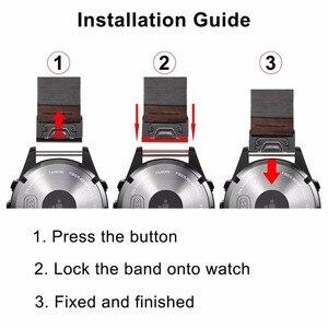 Image 5 - Quick Fit Genuino Cinturino In Pelle 20/22/26mm per Garmin Fenix 5X/5X Plus/5 s/5/3/3HR/Forerunner 935 Watch Band Cinturino Bracciale
