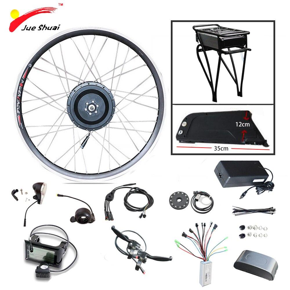 Vente Promotionnelle 48 v 10AH Kit de Vélo Électrique Avec Porte-Bagages Arrière et Bouilloire Batterie 500 w Motoréducteur pour 26 27.5 28 Kit ebike