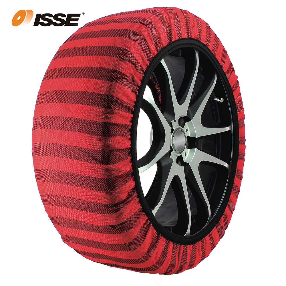 Automobiles ISSE Textile Snow Chains For Cars Alternative Anti Slip Fabric Tire Chain Socks Traction For Snow And Ice Car Snow