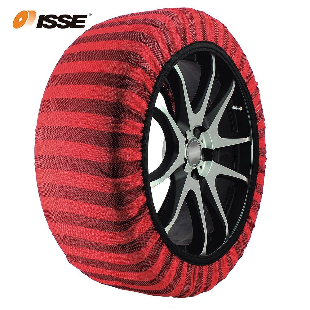 Automobiles ISSE Textile chaînes à neige pour voitures Alternative antidérapant tissu pneu chaîne chaussettes Traction pour neige et glace voiture neige