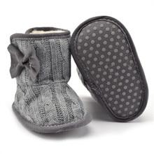 Bowknot Faux Fleece Soft Sole Boots For Infant