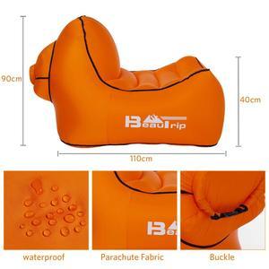 Image 4 - 아니 펌프 필요 야외 빠른 풍선 공기 의자 lounger hangout 휴대용 경량 캠핑 비치 바람 가방 공기 소파 소파