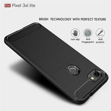 For Google Pixel 3 3A XL Lite Case Silicone Rugged Armor Soft Cover Carbon fiber Phone Case Fundas Coque For Pixel 3XL 3AXL Lite(China)