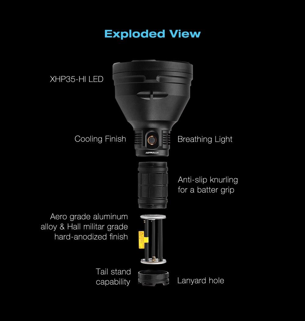 de escurecimento alta brilhante long-rang busca lanterna led
