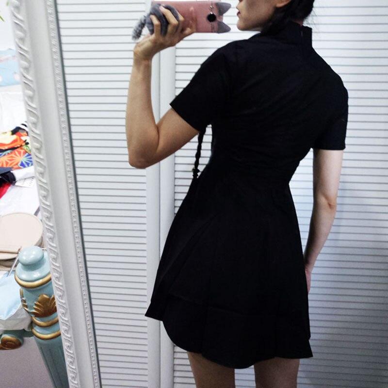 New Hot Women Dress Harajuku Cute fashion Vintage Gothic Lolita Dresses Black Red Slim Chinese Style Cheongsam Robe. 1