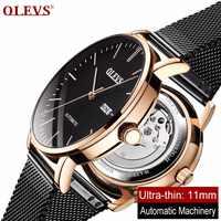OLEVS 2019 Design Sport Mechanical Watch Ultra-thin Automatic Men Waterproof Watches Top Luxury Clock dropping reloj hombre NEW