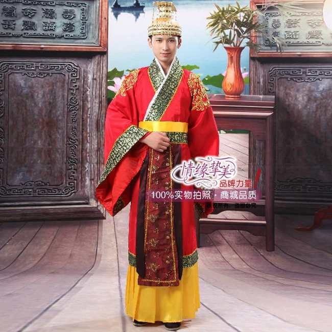 Chinese Han Clothing Emperor Prince Show Cosplay Suit Robe Costume 2019