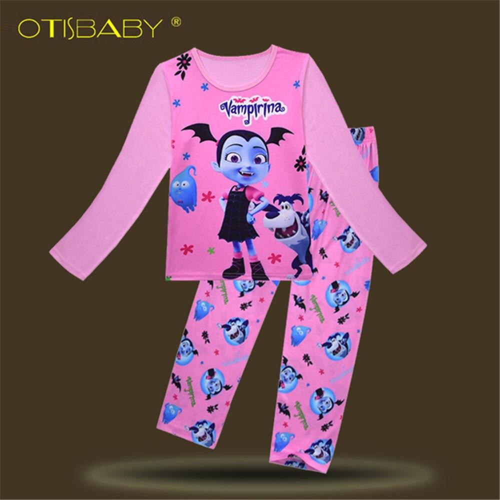 Kraftvoll Herbst Mädchen Weihnachten Vampirina Pyjamas Kinder Vampir Kleidung Set Langarm Nachtwäsche Schlafanzug Anzug Schlafen Zwei Stück Set