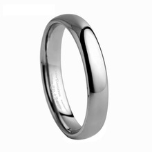 ring Domed Tungsten Carbide Wedding Band for Woman /TURI0001L