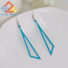 Painting Triangle alloy earrings, free shipping, factory direct