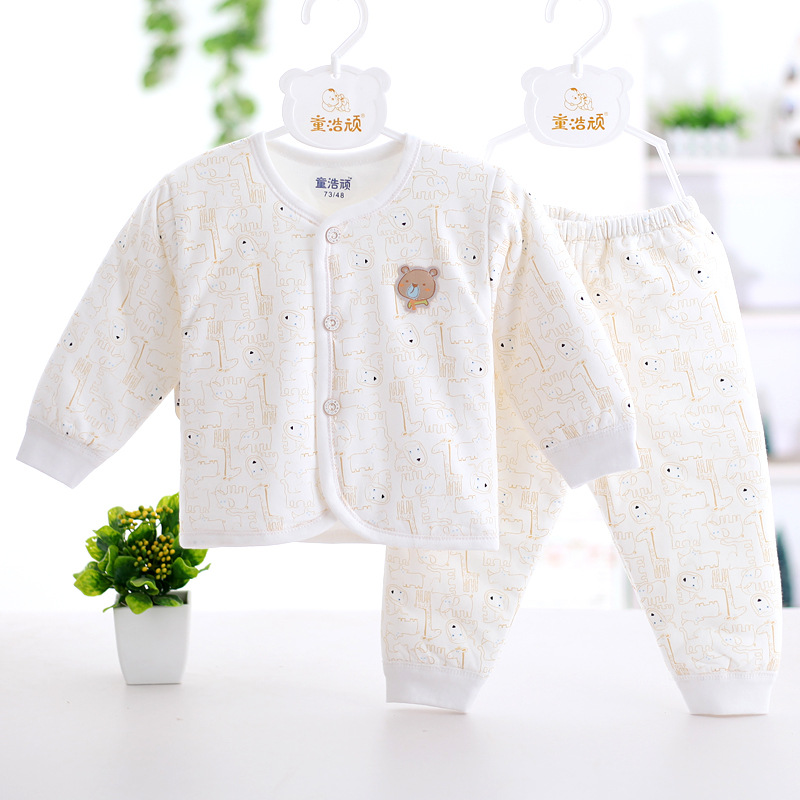 2017 Winter THICKEN warm baby clothing baby girls Keep warm clothing sets Combed with High Quality Newborn baby boys clothes