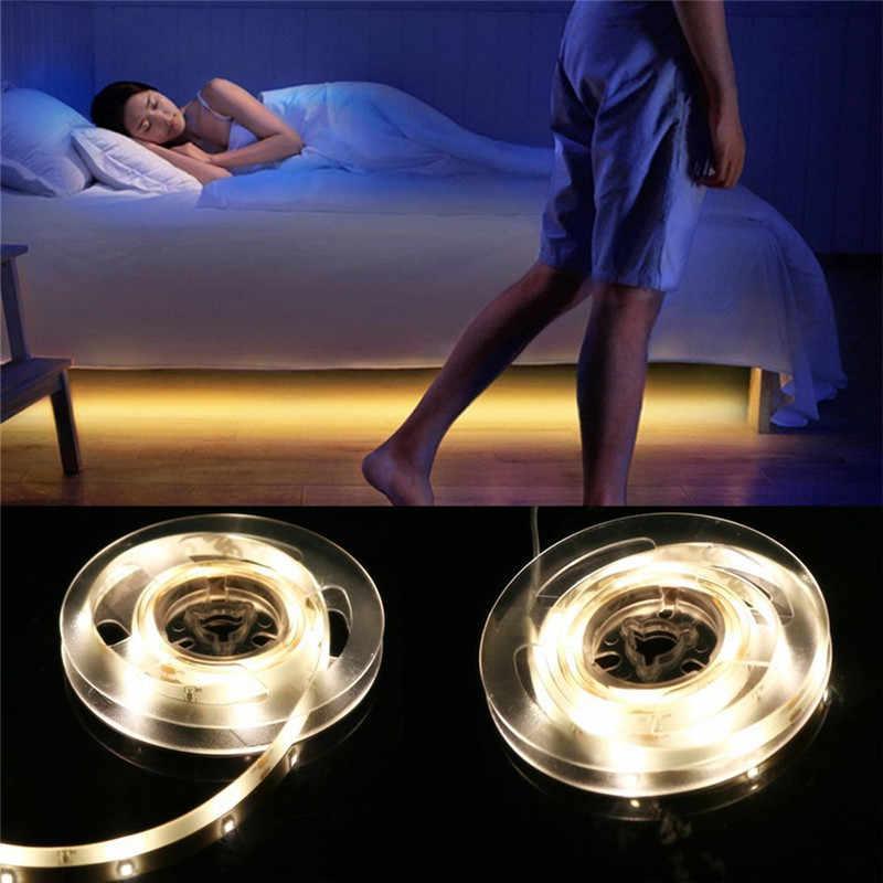DC12V LED bande capteur de mouvement lumière Auto marche/arrêt Flexible LED bande 1M 2M 3M 4M 5M 10M SMD2835 lit lumineux avec alimentation