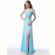 Vestidos De Festa Vestido Longo Straight Long Dress Party Evening Elegant Custom Made Beading Prom Party Gowns 2015 High Quality