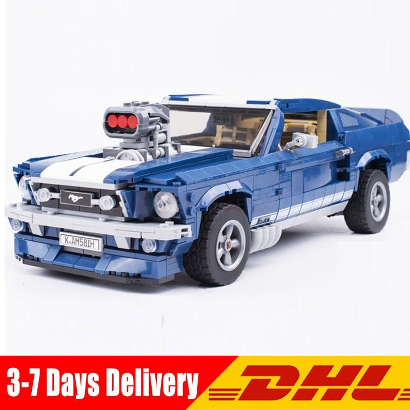 2019 DHL 1648 pièces LEPIN 21047 Créateur D'experts Ford Mustang 1967 Modèle blocs de construction Briques Jouets Cadeau Compatible Avec légèreté 10265