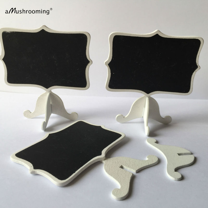 100 pieces/lot) Small Wood Framed Chalkboard Easel Stand Wedding ...