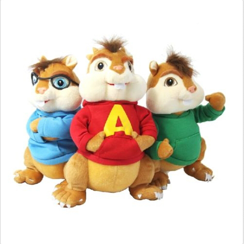 Movie Alvin And the Chipmunks Molle Del Bambino Giocattoli di Peluche Bambole Peluche Bambole Per Bambini Bambini Regali per Bambini Giocattoli in Movie ...