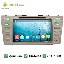 Quad Core WIFI FM BT RDS 2Din Android 5.1.1 1024*600 Car DVD Player Radio Audio Stereo PC Screen GPS For  TOYOTA CAMRY 2007-2011
