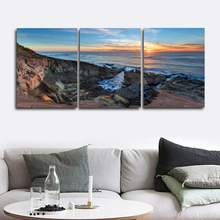 Laeacco Abstract Sea Sunrise Pictures Posters and Prints Nordic Home Decoration Art Charts Canvas Paintings on the Wall modern seaside sunrise palm tree beach wall art posters and prints canvas paintings on the wall home decoration
