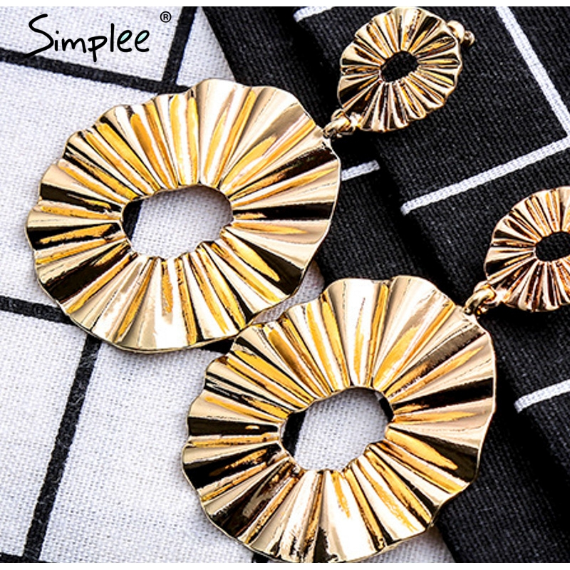irregular round earrings for women