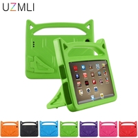 For Amazon Kindle Fire HD 8 2016/2018 HD8 Cute Kids Shockproof Case Safe EVA Soft Rubber Handle Stand Protective Cover Cases+Pen