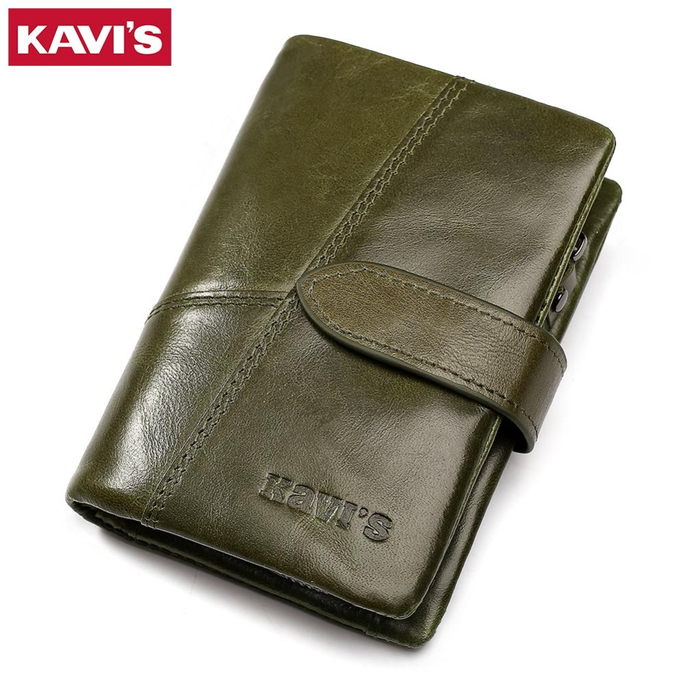 KAVIS Women Wallet Female Genuine Leather Coin Purse and Small Walet Portomonee Lady Money Green Zipper Perse Card Holder Perse kavis 2018 fashion small wallet female coin purse genuine leather women wallet mini portomonee lady luxury brand rfid red walet