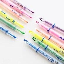 36 개/몫 예쁜 컬러 형광펜 형광 액체 잉크 마커 책 종이 팩스 편지지 사무실 학교 용품 A6857